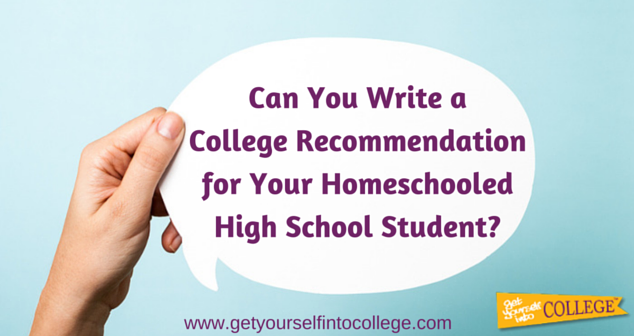Can You Write a College Recommendation for Your Homeschooled High School Student?